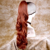 Fox Red Long Ponytail hairpiece Extension Jaw/Claw Clip in on Wavy Hair Piece UK