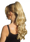 PONY TAIL HAIR EXTENSION HONEY BLONDE WITH BLONDE HIGHLIGHTS