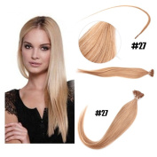 Yesurprise 46cm #27 100s Natural Stick I Tip Hair Straight Real Human Hair Extensions 50g