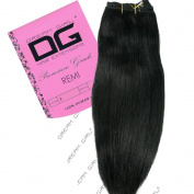 Dream Girl 36cm Colour 1 Remi Weft Hair Extensions