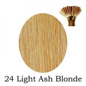 20'' Pre-Bonded Stick Tip Indian Remy Grade A 0.9g #24 - Light Ash Blonde