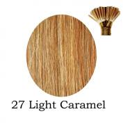 20'' Pre-Bonded Stick Tip Indian Remy Grade A 0.9g #27 - Light Caramel