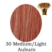 20'' Pre-Bonded Stick Tip Indian Remy Grade A 0.9g #30 Medium Auburn