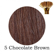 20'' Pre-Bonded Stick Tip Indian Remy Grade A 0.9g #5 Chocolate Brown
