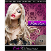 46cm 4# Chocolate Brown RUSSIAN 100% Human WEFT Hair Extensions. Silky Straight WEAVE Weight 100G . LUXURY Russian TOP QUALITY 5AAAAA GRADE. By CelebExtensions