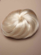 Shropshire Supplies Imitation Fake Hair Bun fixed with drawstring & combs Hair Extension Hairpiece - Platinum Blonde