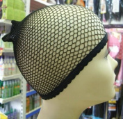Fish Net Weaving Cap Black Suitable for all hair lengths