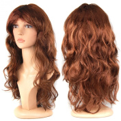 TRIXES Women's Long Curly Fancy Dress Wigs Straight Costume Ladies Wig Fun Party