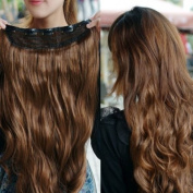 One Piece long curl/curly/wavy hair extension clip-on sexy . fashion Brown