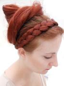 PLAITED BRAID CHUNKY HAIR HEADBAND RED HEADS HAIR PIECE EXTENSION