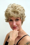 CLASSY Lady QUALITY Wig RETRO middle-aged matured BLOND/BRUNETTE mix CURLY
