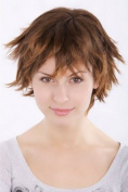 Lady Fashion Quality BOB Wig Short WILD STORMY LOOK spiky ends LAYERED MIXED BROWN brunette 49033-2T30 Cosplay