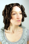 Quality COSPLAY Lady Wig COLONIAL Baroque Victorian Coils/Curls BROWN brunette 6006A-6