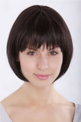 VERY CUTE Lady Fashion Quality BOB Page Wig FRINGE Short DARK BROWN 1236-4 Parrucca Peluca