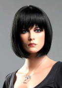 Forever Young Ladies Short Black Wigs in Classic BOB STYLE Woman Wig! Premium Vogue Wigs UK