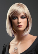 Forever Young Ladies Short Blonde Wig! Bob Style in 2 Tone Ash Blonde & Platinum Blonde Blend