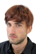 Men's WIG (for Men or Unisex) HIGH QUALITY synthetic short brunette REDDISH BROWN youthful young look GFW933-33 Man