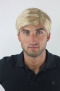 Men's WIG (for Men or Unisex) HIGH QUALITY synthetic short MIXED BLOND youthful young look GFW994-24BT613 Man