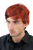 Men's WIG (for Men or Unisex) HIGH QUALITY synthetic short RED REDDISH youthful young look GFW1281-131 Man