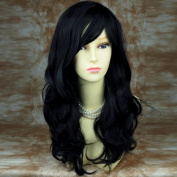 New Wonderful wavy Long Black Curly Wig Hair Wiwigs