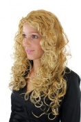 FAIRY TALE BEAUTY Lady Quality Wig VERY LONG mixed BLOND hues strands BEAUTIFUL Curls curly curled VOLUME cute parting 90007-234H