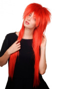 HAIR METAL stunning 80ies Style Quality WIG mullet RED very long 80 cm 9666-137 gothic punk glam rock