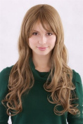 Lady Wig Fashion Wig slight curl light brown DARK BLOND 3255-M8 long 55 cm Peluca Pruik