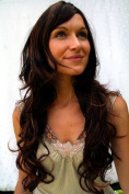 MEDITERRANEAN BEAUTY stunning Lady Quality WIG brunette NATURAL LOOKING MIXED STRANDS long wavy