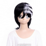 SureWells Fabulous Wigs costume wig Hair wig Party wig SOUL EATER Deat The kid half black and white wig costume wig Costume wig for party