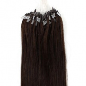 Loop Micro Ring 100% Remy Human Hair EXTENSION Fashion Colours 50g,100S  50cm ,Dark Brown 2#