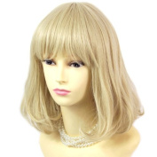 NEW Classic Style SOFT Gold Blonde mix Ladies Wigs skin top Short wig WIWIGS UK