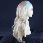 Blonde Mix 3/4 Fall Hair Piece Long Straight Layered wavy Half Wig hairpiece UK