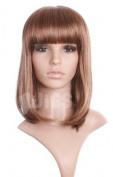 Brown with Blonde Highlights Straight NEW Ladies Wig from Wonderland Wigs