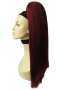 Red, Long, Straight, Hairpiece Ponytail Extension