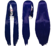 SureWells Azrael Black Butler Mix Dark Blue Long Straight Cosplay Wig Costume Wigs