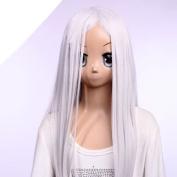 SureWells Fabulous Wigs Hair wig Deadman Wonderland Long White Wigs for Ladies Party Wigs for Ladies