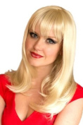 Annabelle's Wigs Stunning, Blonde, Slightly Layered Long Bob Wig