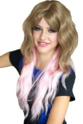 Annabelle's Wigs Extra Long Wavy Dip Dye Layered Light Brown And Pink Wig : Elsie 250g
