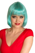 Annabelle's Wigs Turquoise Blue Straight Cut Bob Wig : Iris 200g
