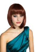 Ginger/Copper Red Inverted Graduated Bob Wig : Jacqueline 200g
