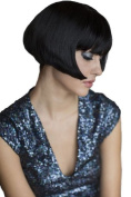 Louise Brooks Style Black Bob Wig