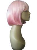 Reverse Dip Dye Pink Straight Cut Bob Wig : Louisa 200g