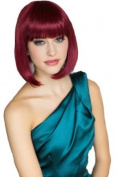 Wine Red Inverted Graduated Bob Wig : Flavia 200g