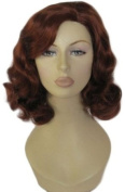 Annabelle'S Wigs A 1940'S Style, Copper Red, Wavy Wig