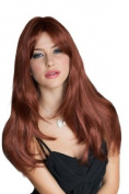 Copper Red Face Frame, Razor Cut Wig Style, Very Natural