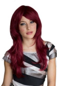 Wine Red, Long Layered, Tip Flip Wig