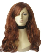 An Extra Long Red & Auburn Wig With Blonde Highlights