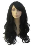 An Extra Long, Wavy, Black Ladies Wig