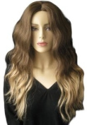 Two Tone Dip Dye Chocolate Brown And Honey Blonde Wig