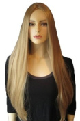 Extra Long, Poker Straight, Ash Blonde Wig With No Fringe